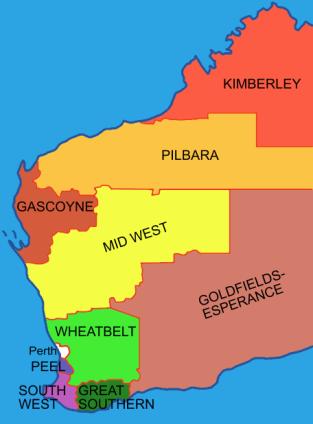 Regions_of_western_australia_nine_plus_perth