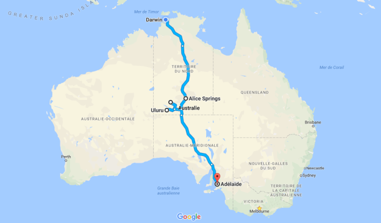 Traversée de l'australie